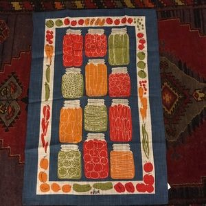 Vera for crate/barrel canning dish towel new